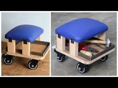 40 DIY Tire Furniture Ideas You Can Actually Try - Buzz 2018 - bettina Workshop Stool, Workshop Layout, Workshop Storage, Workshop Organization, Diy Workshop, Garage Organisation, Diy Garage Storage, Tool Storage, Seat Storage