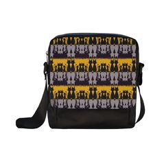 Cat Addiction Crossbody Nylon Bags (Model 1633)