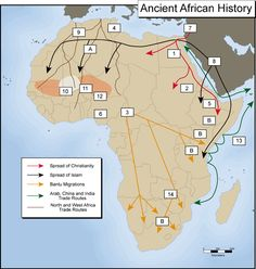 Movements in ancient Africa African Culture, African History, West Africa, North Africa, Spread Of Islam, Human Evolution, Religious People, B 13, Thing 1