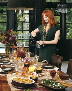 """bareps: """" Christopher Baker shoots Mad Men's Christina Hendricks for @InStyle's Nov. 2010 issue. Look inside the issue for some Thanksgiving recipes from Hendricks and her mother, Jackie Stept. """""""