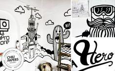Detalles del mural que realice para GP Store