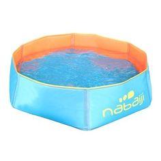 Piscina para niños TidiPool Nabaiji azul-naranja NABAIJI - En verano, el deporte es para descansar
