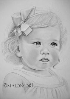 retrato niña a grafito pinturasmalonsor.jimdo.com