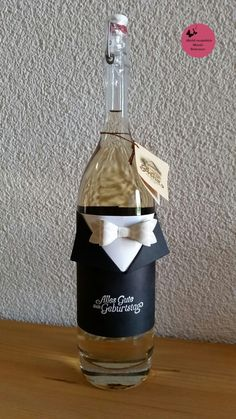 Gute Idee Um Eine Flasche Als Geschenk Zu Verpacken Gift Wrapping