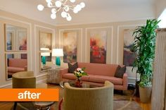Before & After: A Rental Gets Color in the Living Room Without Painting — From the Archives: Greatest Hits