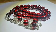 Natural Faturan Prayer Beads Bakelite Antique Amber Cherry Islamic Rosary 33 Red Islamic Prayer, Prayer Beads, Dark Red, Amber, Prayers, Cherry, Beaded Bracelets, Shape, Antiques