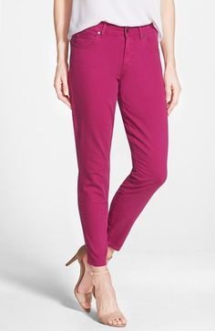 CJ by Cookie Johnson 'Wisdom' Colored Stretch Ankle Skinny Jeans available at #Nordstrom