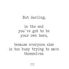 Yourself, heroe, brave heart