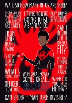I've been working on some custom orders again! For the lovely Sally and her boys (good luck with the new house!) we have Miles Morales from Into The Spider-Verse. If you'd like a custom order I'm at. Avengers Quotes, Marvel Quotes, Marvel Memes, Spider Verse, Marvel Films, Marvel Characters, Marvel Fan, Marvel Avengers, Miles Morales