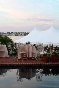 Rentals Unlimited// Dana Markos Events// Flowers by Semia// Fine Catering by Russell Morin// Dana Siles Photographer// Newport Tent// Exquisite Events