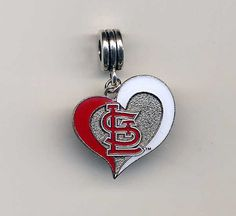 St. Louis CARDINALS Inspired Dangle Charm - Fits Most European-Style Bracelets on Etsy, $5.99