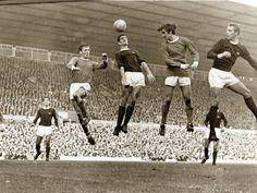 Manchester United gegen Arsenal, Fußballspiel im Stadion Old Trafford, Oktober 1967