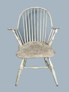 Fine Windsor Chair in White Paint