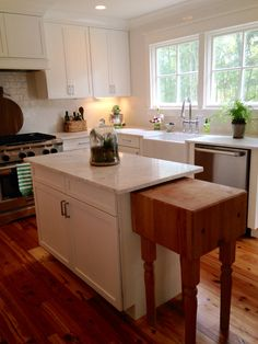 Shaker Style With Wood And Green Accents