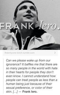 THANK YOU FRANK FOR SAYING THIS