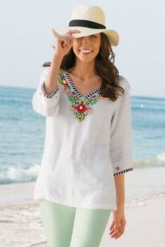 ede95e192b Fiesta Tunic I from Soft Surroundings Summer Office Outfits