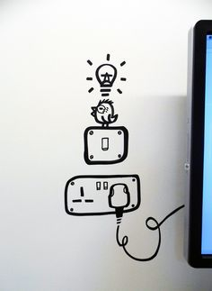 Social media giants Facebook approached Geo Law for their internal Artist in Residence programme and asked him to apply his doodles onto their office walls.   #Illustration #Design #Art #Signage #Wall #Painting