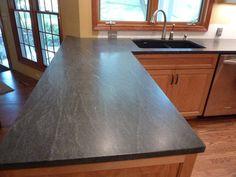 Choosing New Kitchen Countertops White Kitchen Cabinets, Kitchen Redo, New Kitchen, Kitchen Ideas, Kitchen Planning, Kitchen Paint, Kitchen Designs, Blue Granite Countertops, Kitchen Countertops