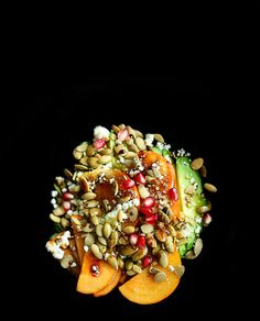 this sounds so lovely…Avocado, persimmon, and pomegranate salad | http://5secondrule.typepad.com/