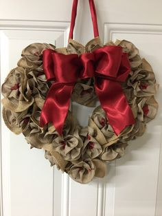 A personal favorite from my Etsy shop https://www.etsy.com/listing/488916358/burlap-floral-heart-wreath