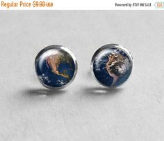 SALE Christmas Gift, Planet Earth Earrings, Small Stud Earrings, Stud Earings, Best Friend Gift, Space Jewelry, Solar System, E167 by petiteVanilla on Etsy https://www.etsy.com/listing/113529377/sale-christmas-gift-planet-earth