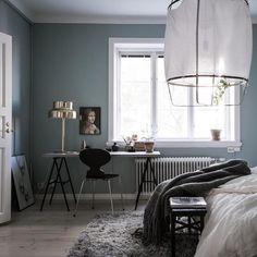 my scandinavian home: A calm Swedish home with a blue bedroom Blue Bedroom, Trendy Bedroom, Bedroom Colors, Bedroom Decor, Master Bedroom, Bedroom Inspo, Design Bedroom, Swedish House, Scandinavian Interior Design