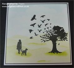 Using the Bird Tree stamp from Clarity with one of the Wee Folk. For more information pop along to http://www.angelascrafthut.co.uk/walk-to-recovery/
