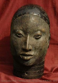 .ancient bronze statue from Nigeria's Ile-Ife civilization.