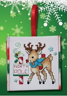 "October 2016 Pattern of the Month ""Red Nose Reindeer"" – Stoney Creek Online Store Cross Stitch Christmas Stockings, Xmas Cross Stitch, Just Cross Stitch, Cross Stitch Cards, Christmas Cross, Cross Stitching, Cross Stitch Embroidery, Cross Stitch Designs, Cross Stitch Patterns"