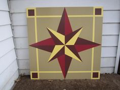love these colors Barn Quilt Designs, Barn Quilt Patterns, Quilting Designs, Star Patterns, Star Quilts, Quilt Blocks, Barn Signs, Wood Signs, Painted Barn Quilts