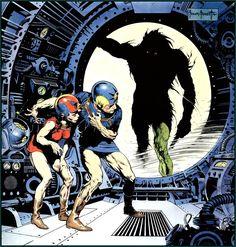 By Frank Frazetta… Buck Rogers is in trouble.
