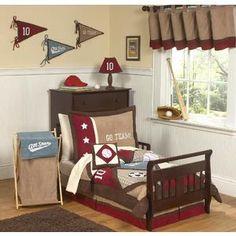 All Star Sports Collection 5pc Toddler Bedding Set - Kmart Diy Toddler Bed, Toddler Boy Room Decor, Toddler Rooms, Boys Room Decor, Baby Boy Rooms, Baby Room, Kids Rooms, Boy Bedrooms, Boys Bedding Sets