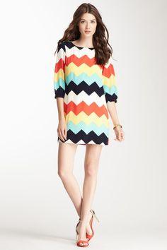 Scoop Neck Chevron Print Dress on HauteLook