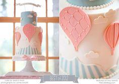 Hot air ballon cake