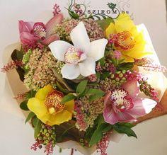 5 színes orchidea Flower Arrangements