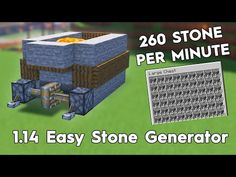 In this video i will show how to make a easy Minecraft stone generator that makes stone per hour. Great tool if you need to fill big ar.