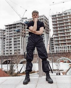 *under construction* from closet Alternative Outfits, Alternative Fashion, Alternative Men, Stylish Mens Outfits, Cool Outfits, Tactical Wear, Weird Fashion, Man Fashion, Cyberpunk Fashion
