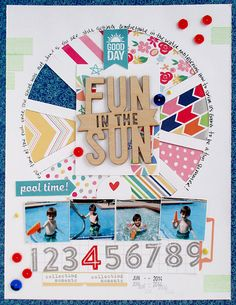 Layout: ~ fun in the sun ~ ⊱✿-✿⊰ Follow the Scrapbook Pages board visit GrannyEnchanted.Com for thousands of digital scrapbook freebies. ⊱✿-✿⊰