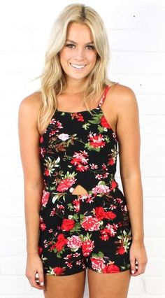 Howlin For You Floral Romper