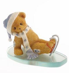 Cherished Teddies Bear with Hat, Scarf and Skates Figurine