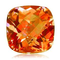 4.50 Cts of 10 mm AA Cushion Checker Board Mystic Azotic Ecstacy Topaz ( 1 pc ) Loose #Gemstone