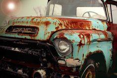Americana Art, Nostalgic Photograph, Old Truck Print,GMC
