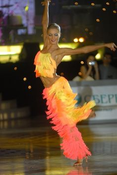"""""""Hip Hip Chin Chin"""" Performance Yulia Zagoruychenko (with Maxim Kozhevnikov) This outfit is so cool and bright"""