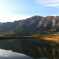 Franschoek South Africa home to La Clé des Montagnes- 4 luxurious villas on a working wine farm Continents, Great Photos, South Africa, Places To Visit, Around The Worlds, Billionaire Lifestyle, Landscape, Cape Town, Rivers