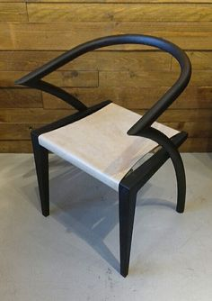 Asia Chair, with natural leather seat. www.young-design.co.uk