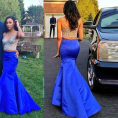 2 Piece Prom Gown Piece Prom Dresses Gowns Pieces Party Dresses Gowns Formal Dress Formal Gowns For Teens Royal Blue Prom Dresses, Prom Dresses Two Piece, Prom Dresses 2016, Mermaid Prom Dresses, Blue Dresses, Wedding Dresses, Graduation Dresses, Dresses Uk, Marine Uniform