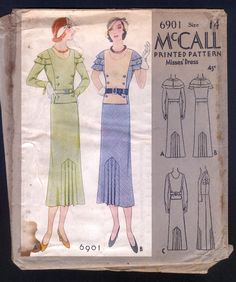 McCall 6901 | ca. 1932 Misses' Dress