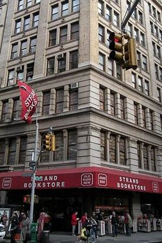 "Strand Book Store's ""18 miles of new, used and rare books"" have graced New York City's streets since 1927. Named for a lucky literary London street, the Strand houses more than 2 million books on essentially every topic."