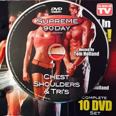 """CHEST, SHOULDERS, & TRI'S.  **Supreme 90Day System, """"Get Ripped in 90Days!"""" Workout Calendar, Get Ripped, Dvd Set, Nutrition Guide, See On Tv, Supreme, Boot Camp"""