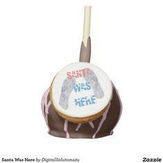 Santa Was Here Cake Pops